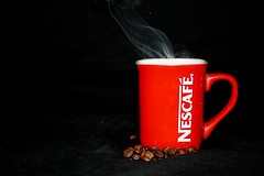 Coffee ? (Shaswat2009) Tags: red coffee beans smoke nescafe hotcoffee