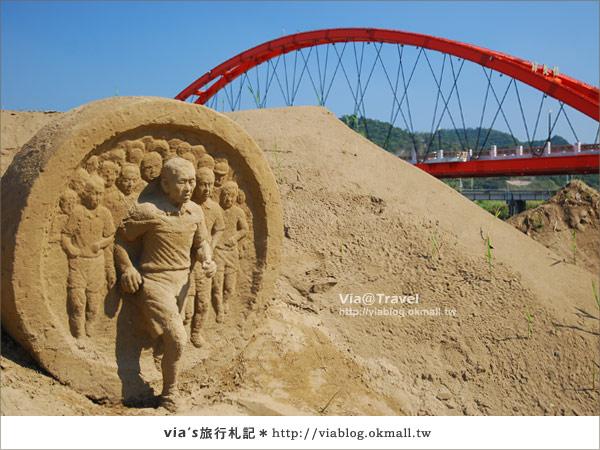【2010春節旅遊】春節假期~南投市貓羅溪沙雕藝術節9