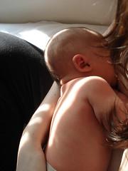 Self Portrait: Motherhood (valerina15) Tags: light boy sleeping portrait woman baby love sunshine self mom infant quiet peace joy peaceful calm breastfeeding motherhood nursing womanly motherbeautiful 5daysoldnursing