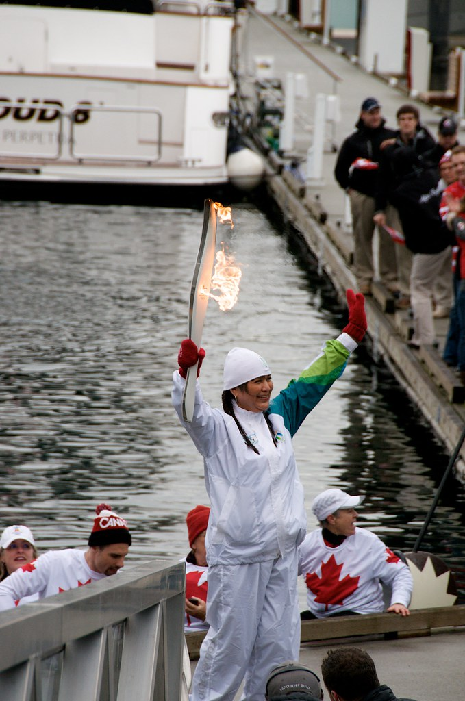 The Olympic Torch on the Dock at Yaletown