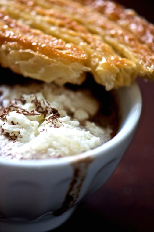 hot chocolate and palmier