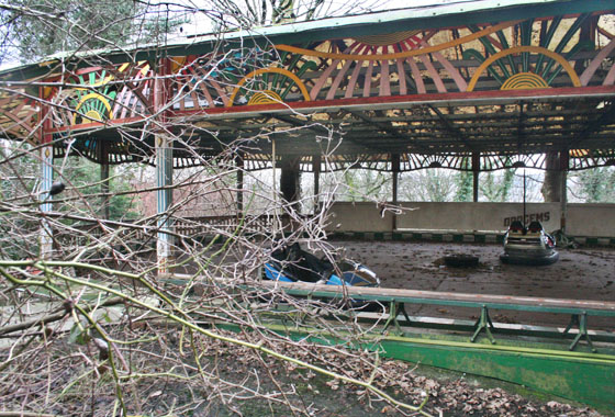 Poking around some abandoned Dodgems