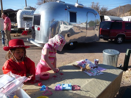 a new friend and airstream at the shady dell.