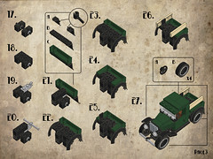 Page03 (Legohaulic) Tags: ford truck modela lego instructions cad