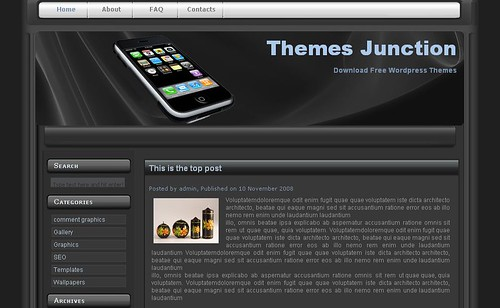 IPhone theme tema wordpress