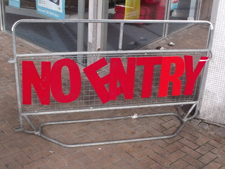 Priory Square is getting a Facelift - No Entry...