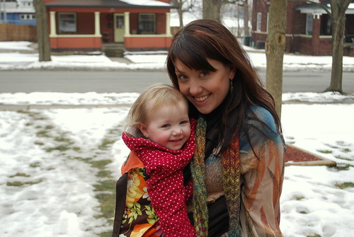 Babywearing in the snow