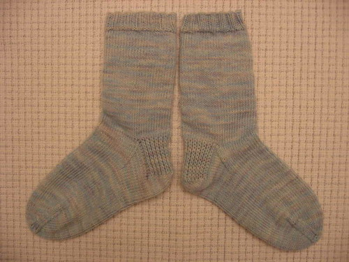 Traveler sock, plain side