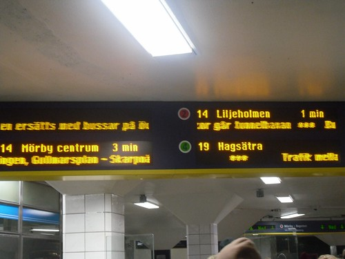 All the trains' schedules are unreliable