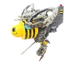 Primopoc Buzzer (lights) Tags: toys lego bumblebee primo buzzer vtol moc thebeesknees battlebug foitsop apocalego dulpo battlebugs primopoc primopunk