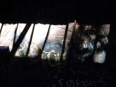 Resin & Graffiti (joycehillstudio) Tags: travel streetart collage painting graffiti buffalo artist acrylic photos mixedmedia events hill spray announcement textures joyce series 1910 lazoo spattering joycehill