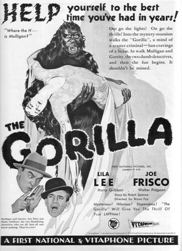 THE GORILLA (1927) Magazine Ad