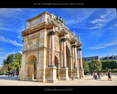 Arc de Triomphe du Carrousel - Paris, France (farbspiel) Tags: travel blue vacation holiday paris france colour tourism colors yellow photography nikon frankreich colorful ledefrance colours louvre wideangle journey handheld colourful nikkor 18200 fra farben arcdetriompheducarrousel d90 farbenpracht nikon18200vr nikond90 topazadjust klausherrmann topazsoftware