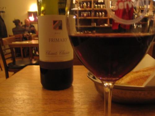 Frimaio Chianti classico wine