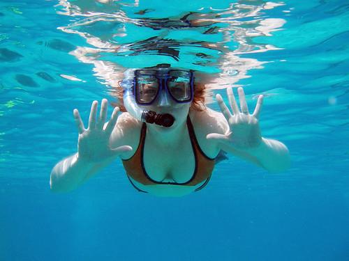 me, underwater