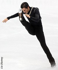 Evan Lysacek during his Olympic long program. (Photo by Liz Chastney)