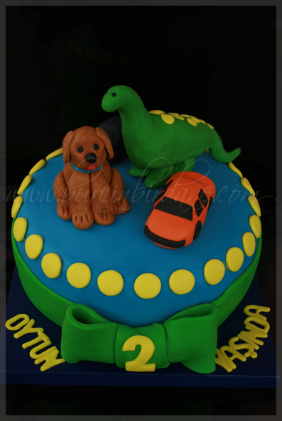 Dog Dino Cake