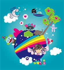 MY WORLD (Lue04) Tags: world iris moon flower tree circle star heaven heart clown luna payaso arco mundo dona piata lue04