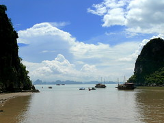 Blue Skies Over Ha Long Bay (Butch Osborne) Tags: travel cruise blue sky lumix boat ship panasonic vietnam digitalcamera traveling 1001nights dmc halongbay digitalphotography mustsee vitnam hni dmcfz50 panasonicdmcfz50 vnhhlong overseasadventuretravel cnghaxhichnghavitnam bucketlist