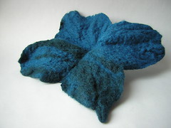 Felted Blue flower top