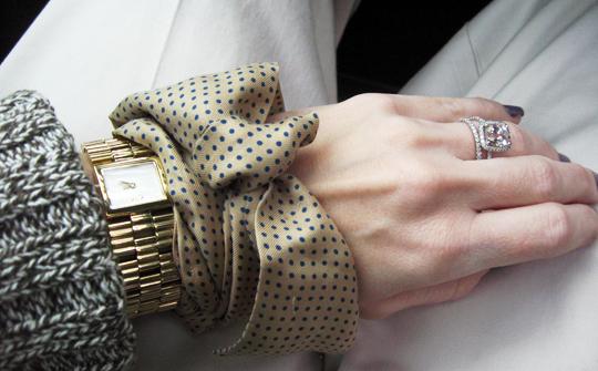 dandg gold watch vintage polka dot silk tie