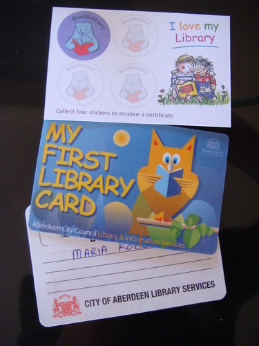 Signed up with the library, like a good Librarian's son!