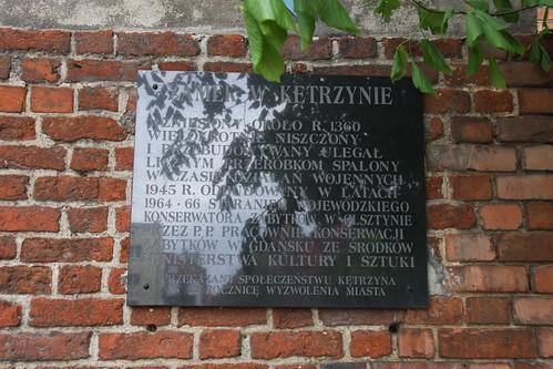 Tablica informacyjna na zamku w Kętrzynie