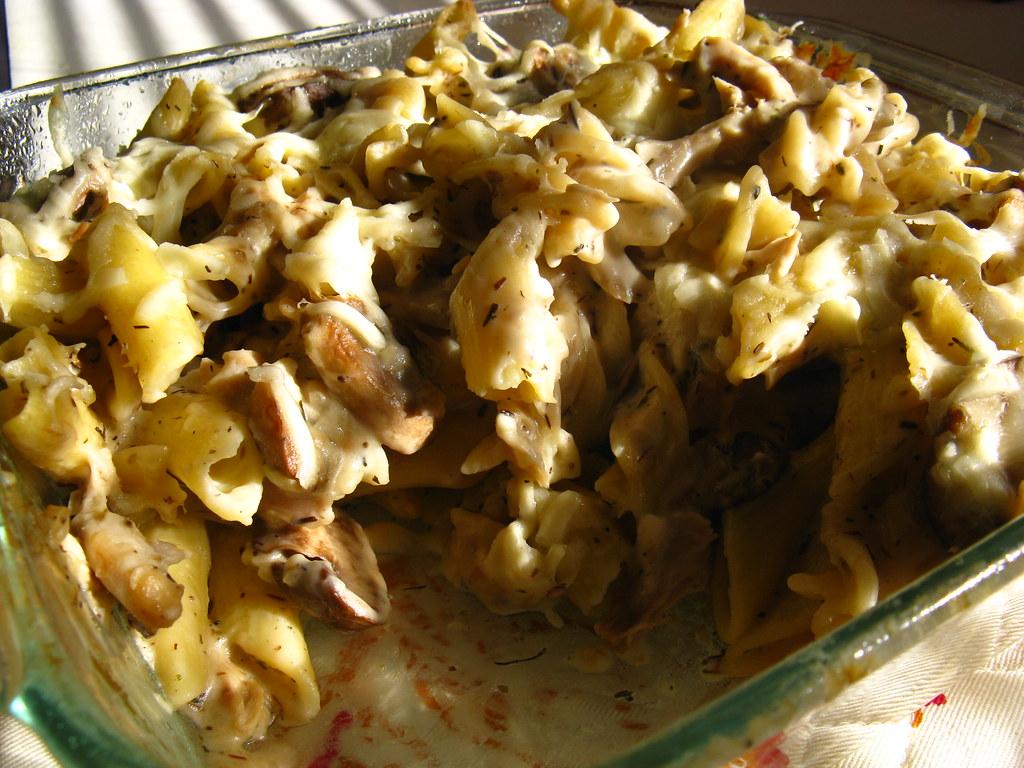 Mushroom, Asiago & Chicken Bake