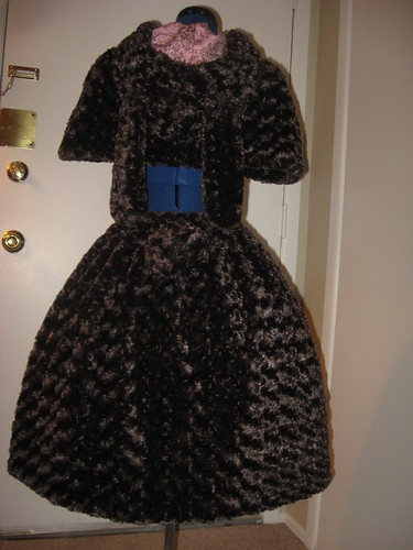 Fur Skirt & Cape Set 009