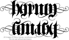 """Karma"" & ""Context"" Ambigram"