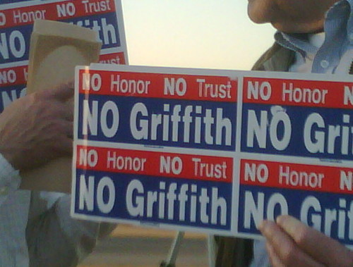 Griffith/Boehner Protest No honor, no Griffith