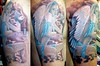Rebel Angel Portrait 3/4 Sleeve Tattoo Dwayne Rebel Angel