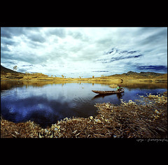 A Piece Of Morning#2 (yoga - photowork) Tags: morning sky panorama cloud mountain lake reflection tree nature canon indonesia lens landscape ir photography silent wideangle v3 canon350d infrared 1022mm beautifulindonesia visitindonesia infraredpanorama