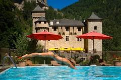 Château de la Caze : piscine (Gorges du Tarn et Causses)