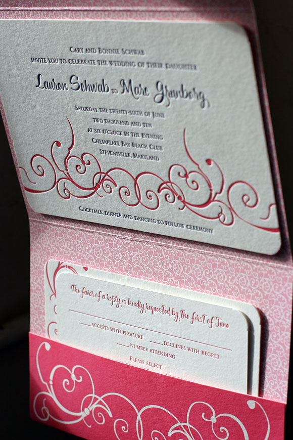 Custom Letterpress Wedding Invitations with Folio