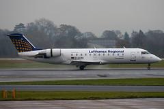 D-ACRK - 7901 - Lufthansa Regional Eurowings - Canadair CL-600-2B19 Regional Jet CRJ-200ER - Manchester - 081126 - Steven Gray - IMG_2804