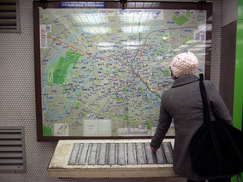 Subway map in Paris