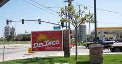 Towards the 605 freeway (ozfan22) Tags: street signs deltaco shellgasoline