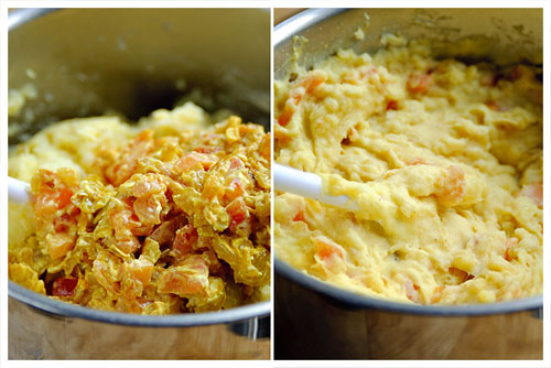 Potato, Tomato and Onion Mash