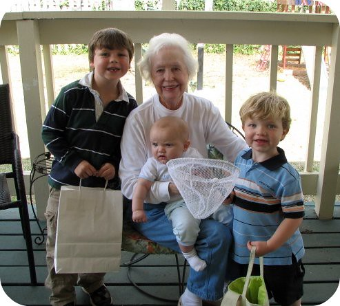 Grandmother Hart with boys