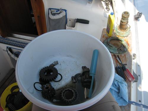 Scrubbing winch parts