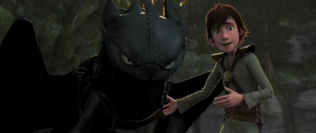 How to Train Your Dragon movie hiccup and toothless