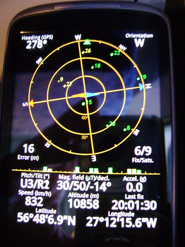 Nexus One gps over Atlantic