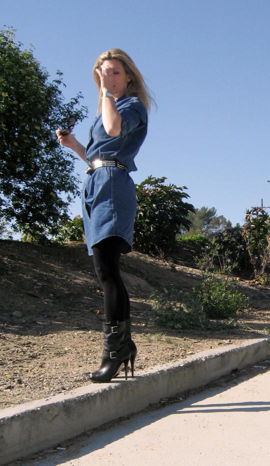 calvin klein denim dress 10 pp