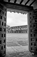 Chinchon's square (colivery) Tags: madrid door urban history architecture square town interesting spain village medieval spanish frame framing chinchon
