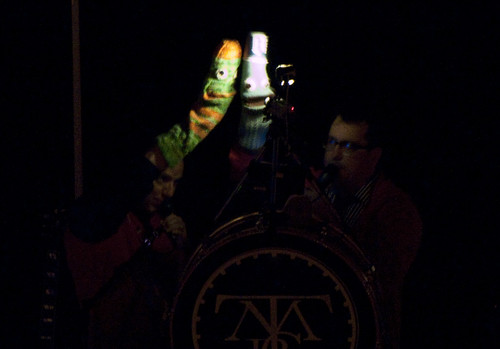 John and John playing puppets