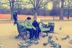 Ⓐ Girl 's.. (- M7D . S h R a T y) Tags: park uk girls two london feeding unitedkingdom hyde hydepark feed moment wordsbyme london2010 ®allrightsreserved™