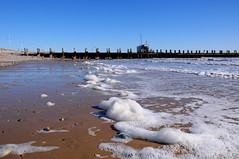 Where The Waves End (EJ Images) Tags: uk sea england slr beach water suffolk nikon wave foam southbeach