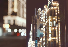 (heartbreaker [London]) Tags: london night shopping lights traffic bokeh harrods signals
