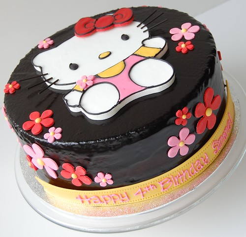 Simone's Hello Kitty Birthday Cake - front